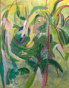 Mary Abbott (b. Garden Painting, Painting & Drawing, Abstract Painters, Abstract Art, Lee Krasner, Australian Painting, A Level Art, Spring Art, Abstract Expressionism