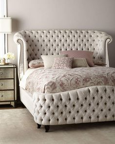 Haute House Bridgitte Queen Bed for any bedroom affiliate Home Decor Bedroom, Tufted Bed, Haute House, Bed Design, Bed, California King Bedding, Luxury Bedding, Home Decor, Bedroom Furniture