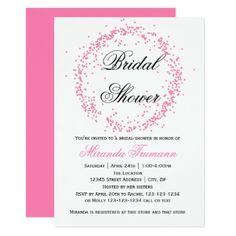 #invitations #wedding #bridalshower - #Pink Confetti - Bridal Shower Invitation