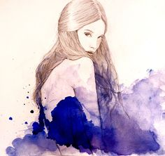 Blue by Sarah Bochaton, via Behance