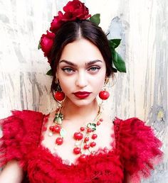 #Cherries as red as her lips #DolceGabbana