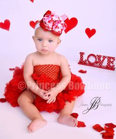Boutique Elegant Valentines Baby Headbands