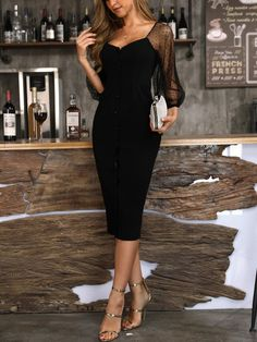 Classy outfits for women Lovely Dresses, Elegant Dresses, Sexy Dresses, Evening Dresses, Casual Dresses, Fashion Dresses, Dresses With Sleeves, Midi Dresses, Club Dresses