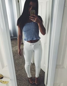 Awesome 47 Hottest Summer Outfits Ideas To Stand Out From The Crowd Hot Summer Outfits, Spring Summer Fashion, Spring Outfits, Trendy Outfits, Cute Outfits, Tube Top Outfits, Teen Fashion Outfits, School Looks, Outfit Goals