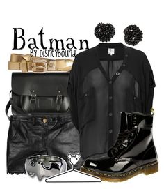 """""""Batman"""" by leslieakay ❤ liked on Polyvore featuring Bohemia, Alice by Temperley, Ted Baker, Firetrap, Dr. Martens, Disney, Dorothy Perkins and disney"""