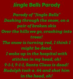 Damn Funny The post Jingle bells parody Funny Christmas Songs appeared first on Gag Dad. Funny Christmas Quotes, Funny Christmas Pictures, Christmas Humor, Funny Pictures, Merry Christmas Funny, Christmas Poems, Christmas Jingles, Christmas Gifts, Funny Images