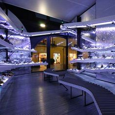 Shopping Experience Enhancements - Assembly line stores - The Munich 'La Rocha' Shoe Shop is a series of conveyor belts. Shoe Display, Display Design, Store Design, Display Ideas, Shop House Plans, Shop Plans, Architecture Art Nouveau, Conveyor Belt, Store Interiors