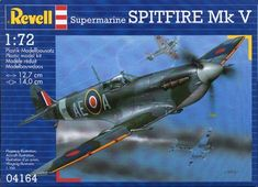 Revell 4164 1:72 Spitfire MK V B The most famous British aircraft of World War II combined excellent flying characteristics with an outstanding performance. The first production Spitfire were delivered in July 1938. The RR Merlin engine devefoped 1,470 ps.; max. speed 594 km/h