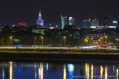 Warsaw by night | Night panorama of Warsaw a capital of Poland