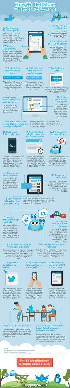 How To Get More Twitter Followers In 2019 | Blogging Wizard...Social Media Marketing | SMM |  Twitter Marketing | Twitter Marketing Strategy | Twitter Growth #socialmediamarketing #socialmedia #SMM #twittermarketing #twittergrowth  #twitter Get More Followers, Twitter Followers, Affiliate Marketing, Social Media Marketing, Growth Hacking, How To Find Out, Infographic, Base, Tips