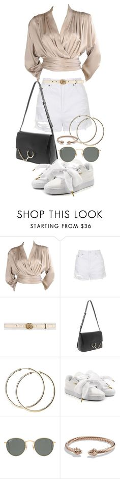 """Untitled #21064"" by florencia95 ❤ liked on Polyvore featuring Yves Saint Laurent, Topshop, Gucci, Chloé, Puma, Ray-Ban and David Yurman"