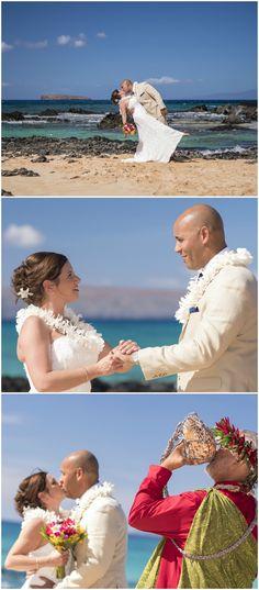 Hawaii wedding, Makena Cove Beach in Maui, traditional Hawaiian ceremony // A Paradise Dream Weddings