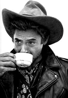He makes even drinking coffee look hot.