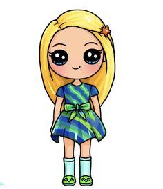 Camile American Girl Doll Kawaii Girl Drawings, Cute Food Drawings, Cute Cartoon Drawings, Cute Disney Drawings, Cartoon Kunst, Cartoon Girl Drawing, Cute Animal Drawings, Girl Cartoon, Chibi Kawaii