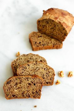 No sugar banana bread! This recipe came out great. I made them into muffins-- they make the perfect snack with peanut butter. Sugar Free Treats, Sugar Free Recipes, Baking Recipes, Banana Nut, Banana Bread, Vegetable Bread, Sugar Bread, No Sugar Foods, Sweet Bread