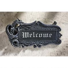 Dragon Welcome Wall Plaque Was: $29.95 Now: $24.95