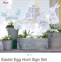 Pottery Barn Kids Ester Egg Hunt Sign Set