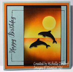 Day at the Beach Birthday – Stampin' Up! Card created Michelle Zindorf
