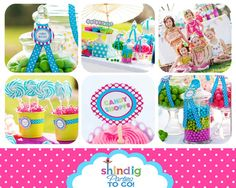 Candy Sweet Shoppe Party- Printable Package for her birthday