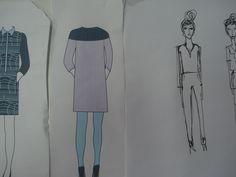 moda, croquis, processo