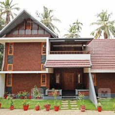 550 SqFt Low Cost Traditional 2 Bedroom Kerala Home Free Plan - Free Kerala Home Plans Free House Plans, Small House Plans, Dream Home Design, Modern House Design, 10 Marla House Plan, Kerala Traditional House, 1500 Sq Ft House, Low Budget House, Indian House Plans