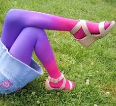 Love these! Gradient/Ombre Kid Tights Size 46 by FaithisFabulous on Etsy, $20.00