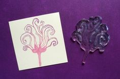 rose flower clear polymer rubber stamp by sugarskull7 on Etsy, $9.00