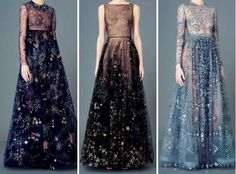 clytaemnestra  Galaxy inspired gowns. Beautiful.