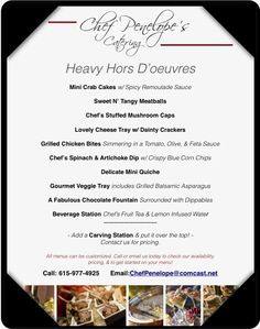 Best Heavy Hors D Oeuvres Menu For Wedding Reception Photos ...