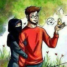 Cute Muslim Couples, Cute Couples, Muslim Couple Photography, Cute Couple Cartoon, Islamic Cartoon, Soft Heart, Art Sketches, Art Inspo, Manga Anime