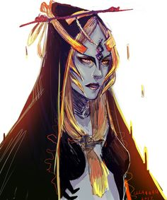 Midna colored sketch by lllannah