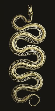 Best Picture For Serpent tattoo simple For Your Taste You are looking for something, and it is going Animal Skeletons, Animal Skulls, The Wicked The Divine, Snake Art, Beautiful Snakes, Gold Aesthetic, Animal Bones, Snake Tattoo, Diy Tattoo