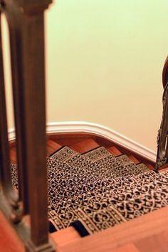 Wool Stair Runner - traditional - staircase - new york - PEYKAR ORIENTAL RUGS