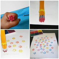Easy paint flowers