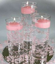 wedding candles centerpieces