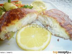 Treska v bramborové krustě Fish Recipes, Chicken, Food, Meals, Yemek, Buffalo Chicken, Eten, Rooster