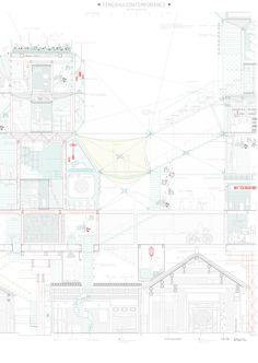 mención de honor Designing the Future: Alicia Regodón Puyalto Architecture Design Concept, Architecture Panel, Architecture Graphics, Architecture Drawings, Architecture Illustrations, Section Drawing, Line Drawing, Architectural Section, Architectural Presentation