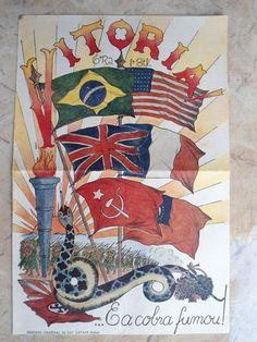 Brazilian Poster World War II                                                                                                                                                                                 Mais