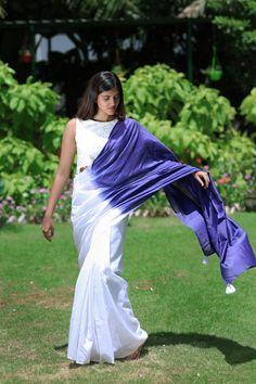 Saree Draping Styles, Saree Styles, Blouse Styles, Blouse Designs, Chanderi Silk Saree, Organza Saree, Silk Sarees, Modern Saree, Casual Saree