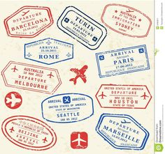 Travel Stamps Background Fictitious International Airport - Travel Stamps Background Fictitious International Airport Symbols Royalty Free Cliparts Vectors And Stock Illustration Image Voyage Usa, Travel Stamp, Passport Stamps, Thinking Day, Travel Design, Tampons, Travel Themes, International Airport, Travelers Notebook