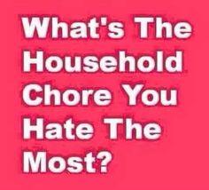 Chore you hate the most?   PureRomance.com/BethTemple