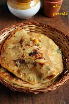 Aloo paratha recipe with step by step photos. Sharing a very delicious dhaba style aloo paratha recipe. This Punjabi aloo paratha recipe is a very filling one too. It tastes delicious with spicy po… Veg Recipes, Indian Food Recipes, Asian Recipes, Vegetarian Recipes, Cooking Recipes, Vegan Vegetarian, Healthy Recipes, Paratha Recipes, Paratha Roti Recipe