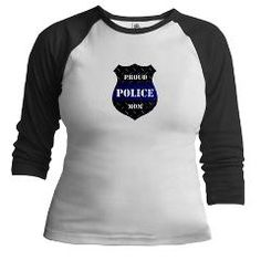 Proud Police Mom Badge Baseball Jersey > Proud Police Mom > The Art Studio by Mark Moore