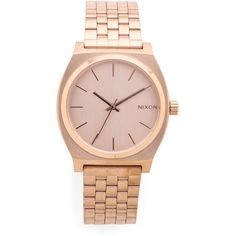 Nixon Time Teller Watch ($96) ❤ liked on Polyvore featuring jewelry, watches, rose gold, nixon jewelry, water resistant watches, nixon watches, snap button jewelry and rose jewelry