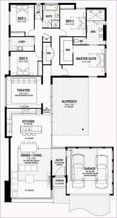 Sims House Plans, Family House Plans, Bedroom House Plans, New House Plans, Dream House Plans, House Floor Plans, The Plan, How To Plan, U Shaped House Plans