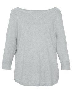 bc36f91c Grey Pebble Cashmere Sweatshirt   Halsbrook Basic Style, Striped Tee,  Sophisticated Style, Coco