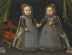 Anonymous, Portrait of twins, probably of the Watervliet family, Auction Sotheby's London (5-12-2013)