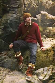 Toast AW12 Men Autumn Winter Lookbook - I like the composition of this shot; great display of wares and use of scenery