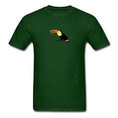 Amazon com TeeBack Toucan Bird Cotton Forest green Men 39 s T Shirts Clothing