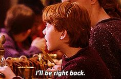 """Ron BEING THE BEST FRIEND EVER (I'll fight you if you disagree). 